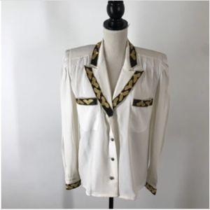 Vintage Della Roufogali Silk Blouse